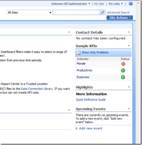 SharePoint Kpi WebPart